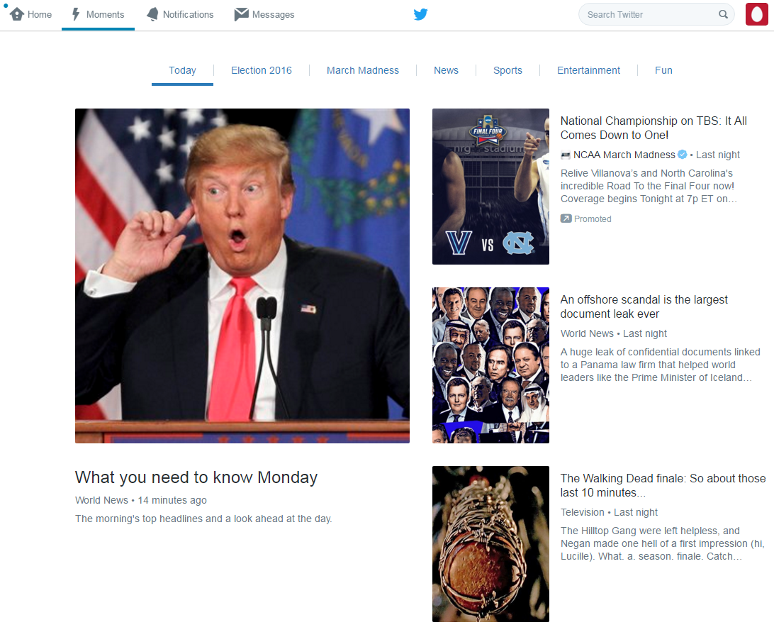 Twitter [ Moments]